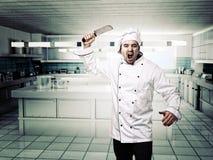 Cuoco unico arrabbiato Fotografia Stock