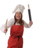 Cuoco unico arrabbiato Fotografie Stock