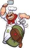 Cuoco unico arrabbiato royalty illustrazione gratis