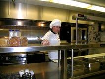 Cuoco unico, aspettante l'ordine seguente Fotografia Stock Libera da Diritti