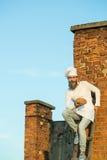 Cuoco unico barbuto del cuoco dell'uomo Fotografia Stock Libera da Diritti