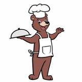 Cuoco unico Bear del fumetto Immagini Stock