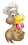 Cuoco unico Cartoon Chicken Immagine Stock