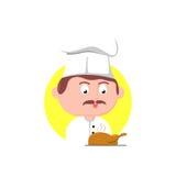 Cuoco unico Character Fotografia Stock Libera da Diritti