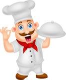 Cuoco unico Character del fumetto Immagini Stock Libere da Diritti