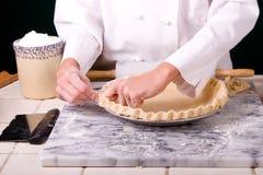 Cuoco unico che forma increspatura Fotografie Stock Libere da Diritti