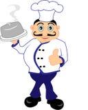 Cuoco unico che presenta un pasto Immagine Stock Libera da Diritti