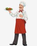 Cuoco unico con le costole cucinate della griglia Immagini Stock Libere da Diritti