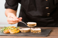 Cuoco unico Cooking Fotografia Stock Libera da Diritti