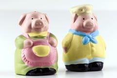 Cuoco unico Couple del maiale Fotografia Stock