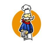 Cuoco unico dei baffi illustrazione vettoriale