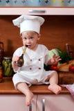 Cuoco unico del bambino Fotografia Stock
