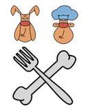 Cuoco unico del cane del fumetto Fotografie Stock
