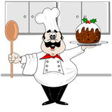 Cuoco unico del fumetto illustrazione vettoriale