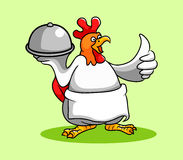 Cuoco unico del gallo illustrazione di stock