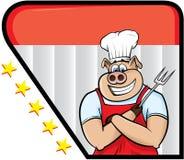 Cuoco unico del maiale Immagine Stock