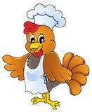 Cuoco unico del pollo del fumetto Fotografie Stock Libere da Diritti