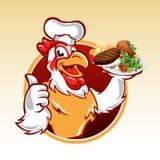 Cuoco unico del pollo del fumetto Fotografia Stock Libera da Diritti
