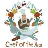 Cuoco unico dell'anno Fotografia Stock