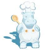 Cuoco unico dell'ippopotamo Fotografia Stock