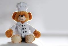 Cuoco unico dell'orsacchiotto della peluche Immagini Stock Libere da Diritti