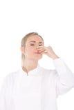 Cuoco unico della donna Fotografia Stock