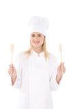Cuoco unico della donna Immagini Stock Libere da Diritti