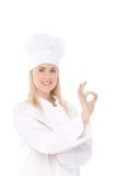 Cuoco unico della donna Immagine Stock Libera da Diritti