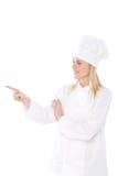 Cuoco unico della donna Fotografie Stock