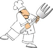 Cuoco unico della forcella illustrazione di stock