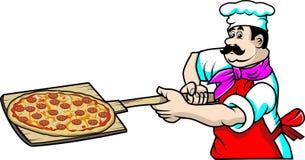 Cuoco unico della pizza Immagine Stock Libera da Diritti
