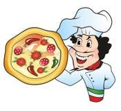 Cuoco unico della pizza Fotografia Stock Libera da Diritti