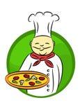 Cuoco unico della pizza Fotografie Stock