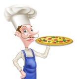 Cuoco unico della pizza del fumetto Immagine Stock Libera da Diritti