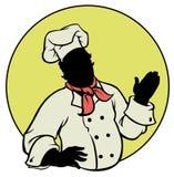 Cuoco unico della siluetta - illustrazione Immagini Stock