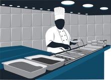 Cuoco unico di approvvigionamento illustrazione vettoriale