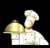 Cuoco unico di art deco Immagine Stock