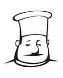Cuoco unico di peso eccessivo in un toque Fotografia Stock