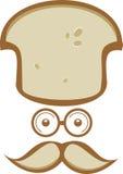 Cuoco unico di riserva del pane di signor di logo Fotografia Stock