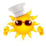 cuoco unico di Sun 3d Fotografia Stock