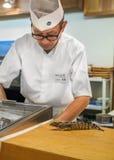 Cuoco unico di sushi giapponese Immagine Stock Libera da Diritti