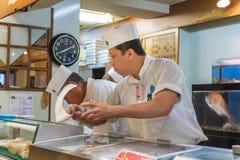 Cuoco unico di sushi giapponese Immagine Stock