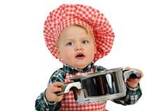 Cuoco unico divertente Fotografie Stock Libere da Diritti