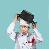 Cuoco unico divertente fotografia stock libera da diritti