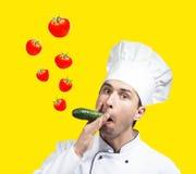 Cuoco unico divertente Fotografie Stock