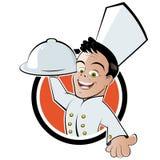 Cuoco unico divertente del fumetto Fotografie Stock