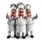 Cuoco unico divertente della cucina Fotografie Stock Libere da Diritti
