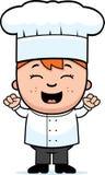 Cuoco unico Excited del bambino Fotografia Stock Libera da Diritti