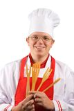 Cuoco unico felice Fotografie Stock