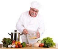 Cuoco unico felice immagini stock